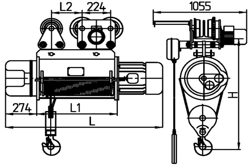 Схема тали ТМ 320